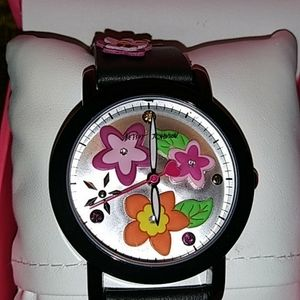 Betsey Johnson 3D Multi Floral. Watch. NWT